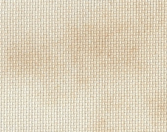 Caramel Creme Orphan Fabric Traditional Effect 18 count 10x18