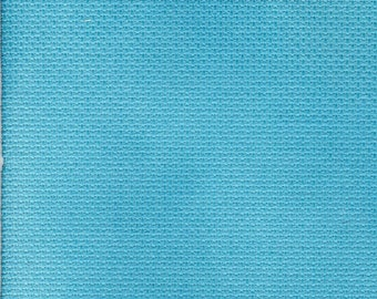 Turquoise Blue Orphan Fabric Traditional Effect 18 count 6x30