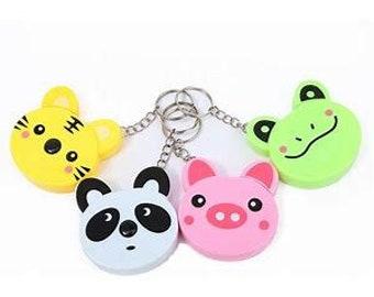 Animal Tape Measure - Pig, Panda, Tiger and Frog