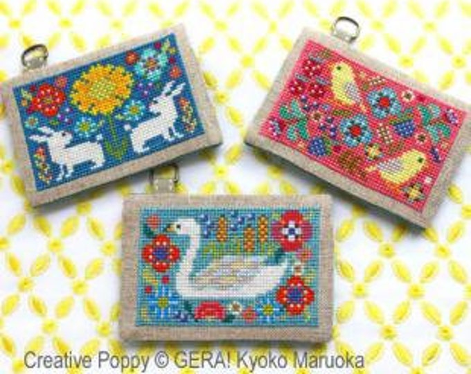 Card Cases with Flowers no. 1 by Gera! Kyoko Maruoka