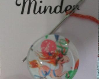 Prancing Unicorn with Balloons Needle Minder (0007)