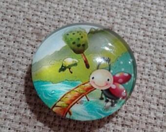 Ladybug in the Park Needle Minder (0149)