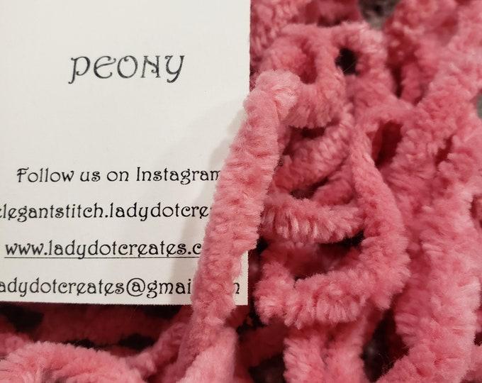 "1/4"" Chenille Trim (Peony) by Lady Dot Creates"