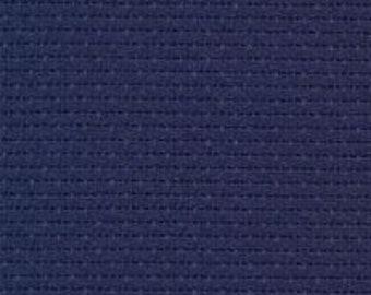 Navy Aida Orphan Fabric (undyed)