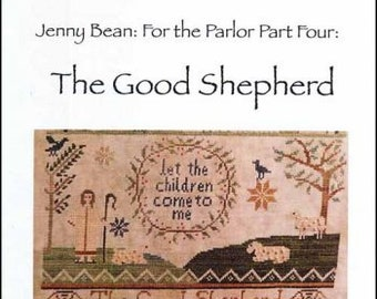 For the Parlor Part 3 Noah/'s Ark by Shakespeare/'s Peddler cross stitch chart design primitive sampler biblical quote Jenny Bean