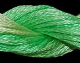 Lime Twist (010461) Threadworx over-dyed embroidery threads
