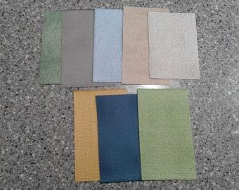 Grab Bag #1 (8 pieces) Hand-dyed Aida cross stitch fabric