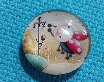 Ladybug & Lamppost (up) Needle Minder (0144)