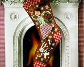 Special Delivery Christmas Stocking by Birds of a Feather