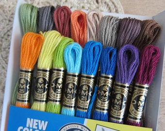 DMC Exclusive Colors Collection Floss Pack (16 skeins) Collector's Edition