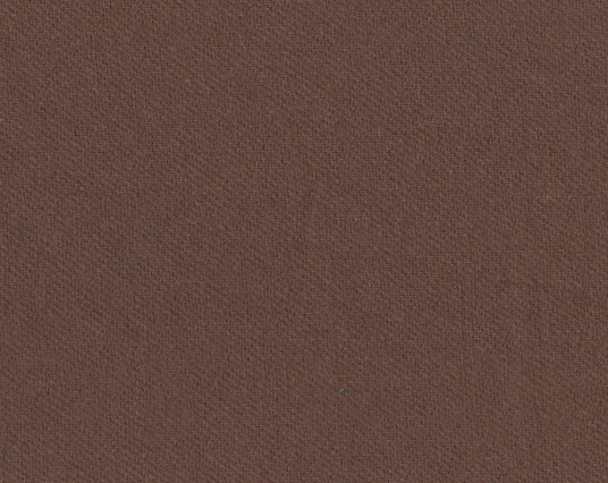 Cottage Brown Wool Finishing Fabric