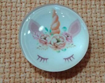 Unicorn Horn with Eyelashes Needle Minder (0006)