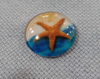 Starfish on Beach Needle Minder (0067)