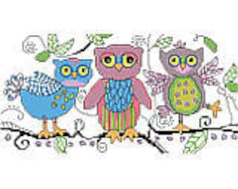 Sketchy Owls by Kooler Classic Charts