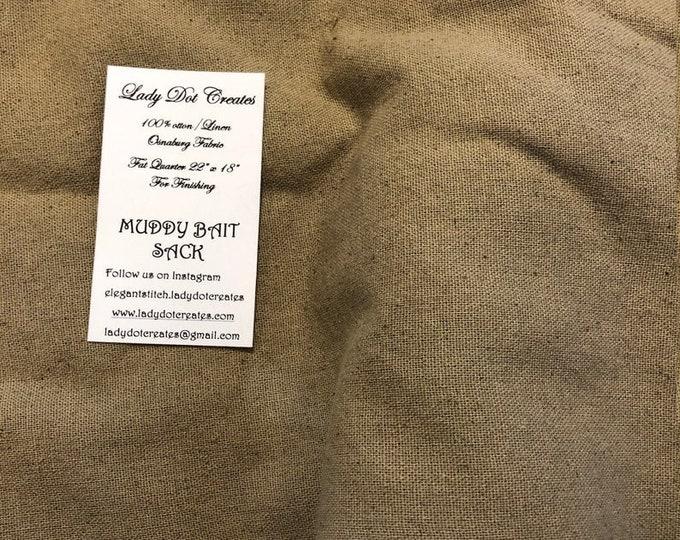 Osnaburg Fabric (Muddy Bait Sack) from Lady Dot Creates