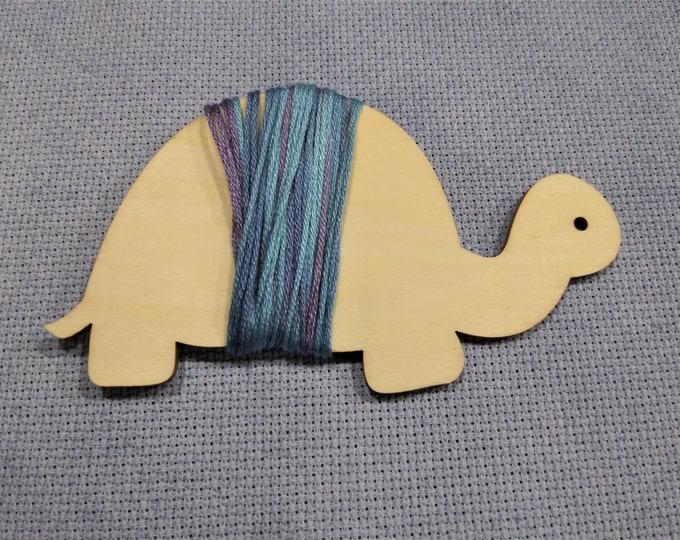 Turtle - Wood Floss Bobbin