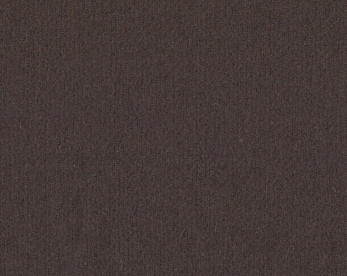 Chocolate Brown Wool Finishing Fabric