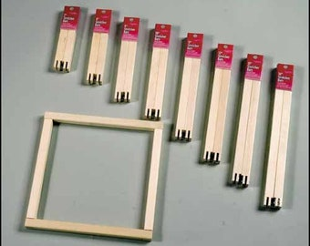 """Stretcher Bars - FA Edmunds 3/4"""" wide various lengths pine cross stitch needlepoint crewel embroidery painting"""