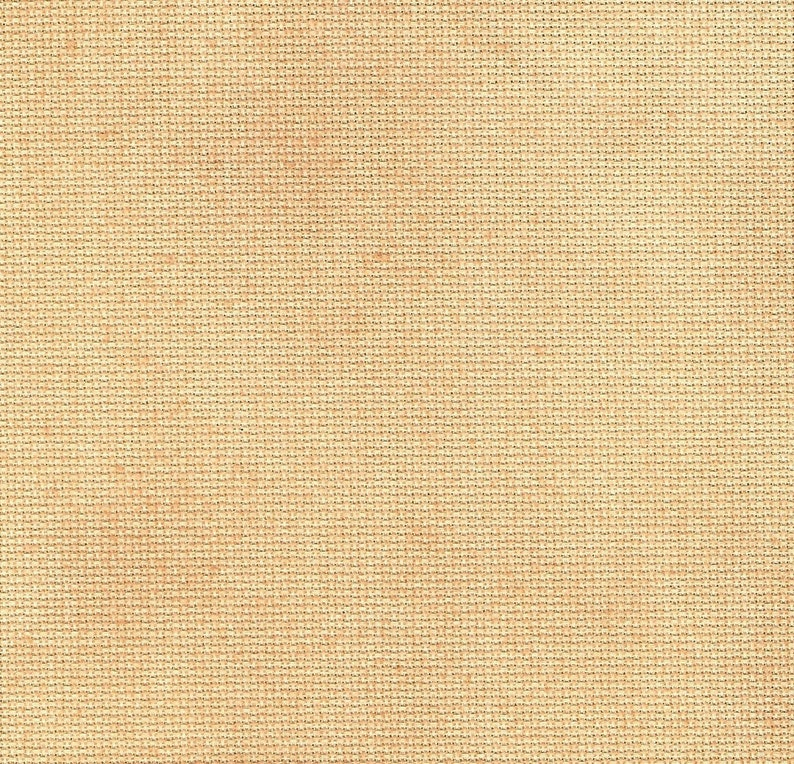 Butterscotch Traditional Hand-dyed Aida cross stitch fabric Vintage NeedleArts golden orange