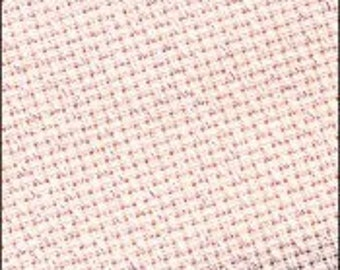 CLEARANCE 14 ct Pink Iridescent Aida 15x18