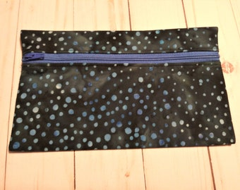 Small Project Bag (Polka Dot Blues) from Ames Custom Creations