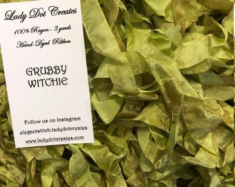 Ribbon (Grubby Witchie) by Lady Dot Creates hand-dyed 3 continuous yards