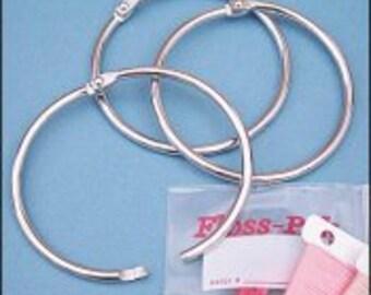 "1"" Split Rings (Pack of 10) for floss storage thread organizers bobbins packs keys drops charms"