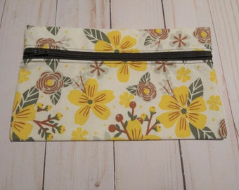 Small Project Bag (Yellow Flowers) from Ames Custom Creations