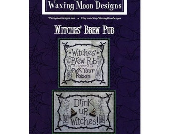 SET OF 2 DESIGNS Witches Brew Pub by Waxing Moon Designs