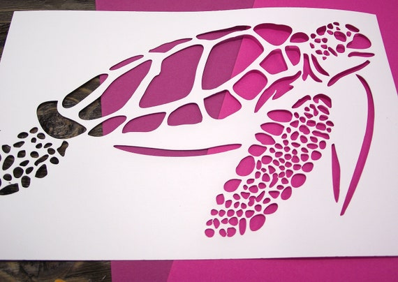 Create DIY Save Sea Turtles Home Decor Reusable Stencils for Painting Save Sea Turtles Stencil