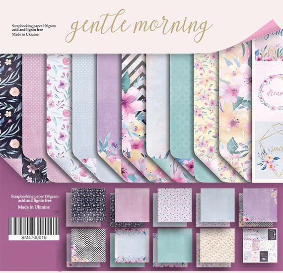 "8/"" x 8/"" scrapbooking paperpad cardstock Purr Purr 10 designs x 2 sheets 190gsm"