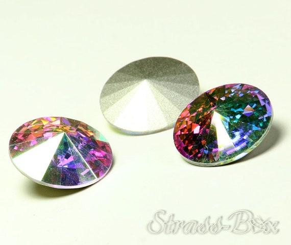 Swarovski Diamante Clear Crystal Rivoli pointback 1122 Foiled 10mm 18mm CHOICE