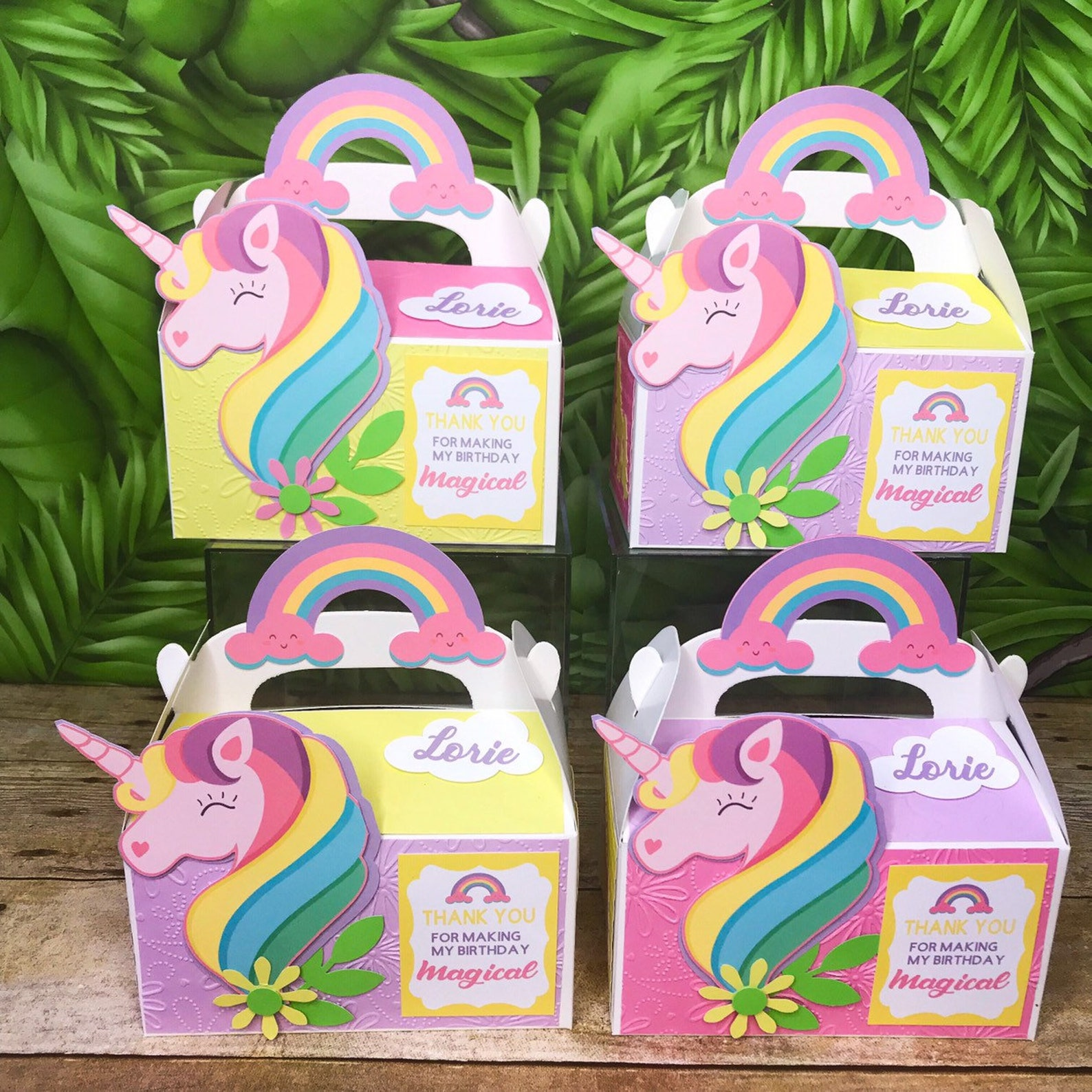 Unicorn Party Favor Boxes Page Three