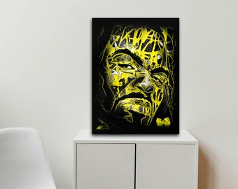 Original and modern table mounted on limited edition aluminum (200ex.) - Remix2R - Yellow Meth