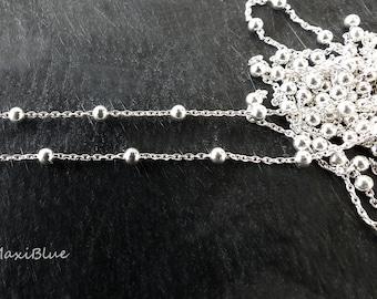 Schmuckkette 50cm Edelstahl Kugelkette Halsketten DIY 1,5//2//3 mm BEST Wählen