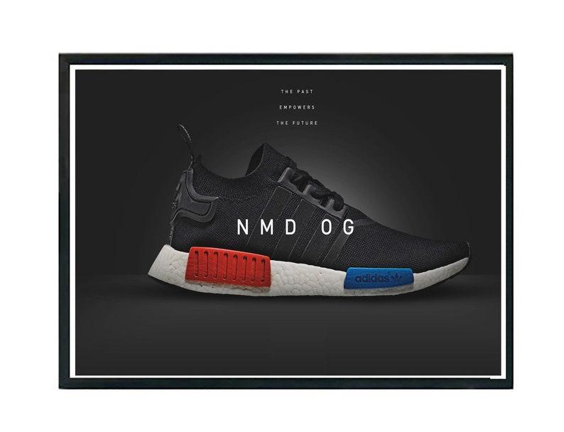 551f508581a52 Custom OG NMD Sneaker Poster Hypebeast Poster Streetwear