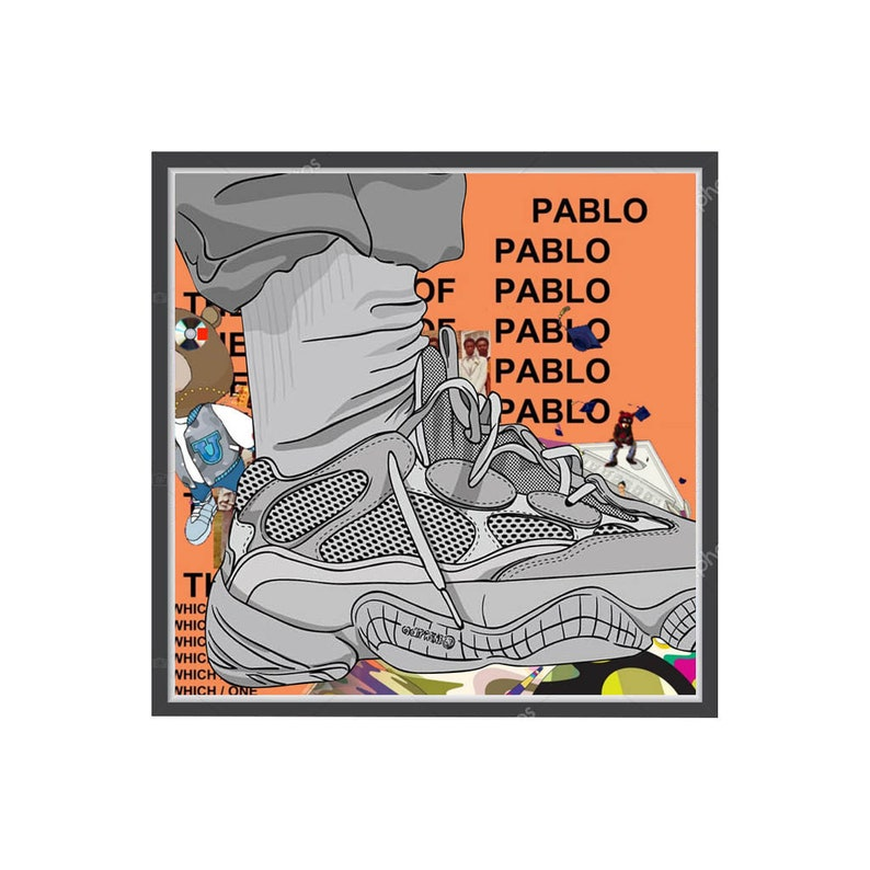 fdd3f6ab964be Custom Kanye West Yeezy Boost 500 Sneaker Poster Hypebeast