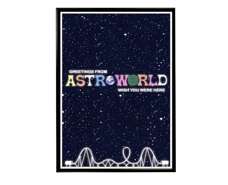 dd38ffc98be1 Custom Travis Scott Astroworld Space Park Poster Hypebeast | Etsy