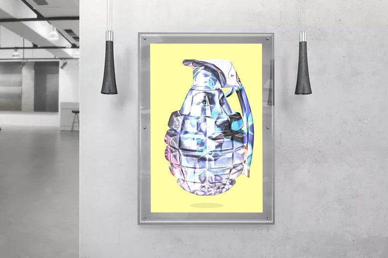 Art Bomb Yellow Graffiti Poster Hypebeast Poster Pop Culture Street Art Poster