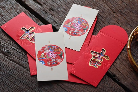 partysu 10PCS Chinese New Year Red Packets Red Envelopes