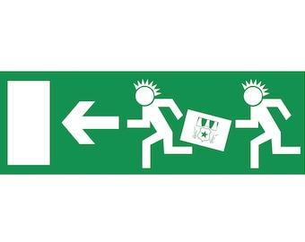 """Escape route sign """"Punk"""""""