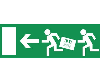 """Escape route sign """"Beer"""""""