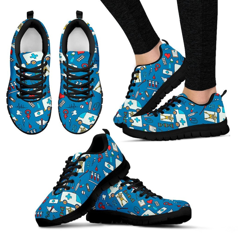 Nurse to be Gift Perfect GiftGraduation Gift for Nurses Blue Nurse SneakersShoes