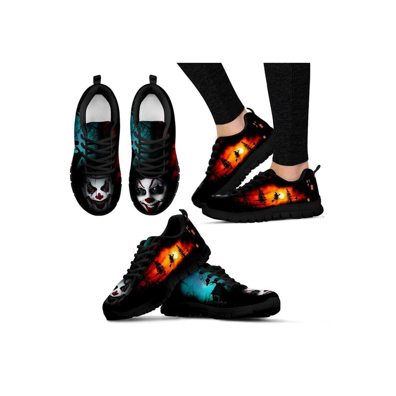 ac5c1e337200 Creepy Clown Sneakers Halloween Costume Shoes Trick or Treat