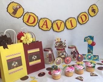Curious George Party In A Box Birthday Decorations First Toddler Boy Decor