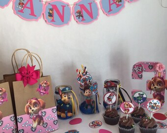 Skye Paw Patrol Party Box Decorations Birthday