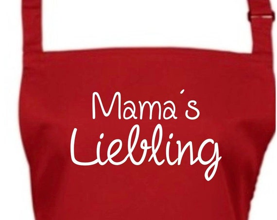 "Cook Baking Apron ""Mama's Darling Mother's Day Mama Mum"" GrillIng Grill Apron Apron DIY Garden Latzschürze"