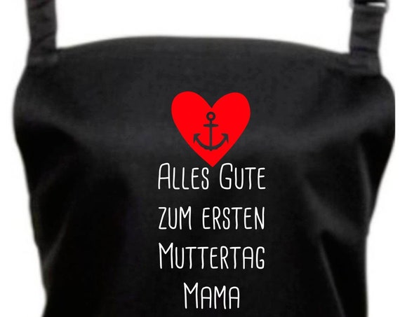 """Cook Baking Apron """"All The Happy Mother's Day Mommy"""" Grilling Grill Apron Apron DIY Garden Latzschürze"""
