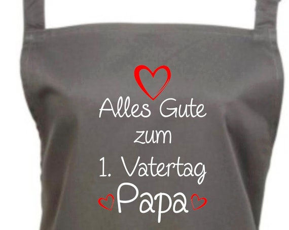 """Chef Baking Apron """"All The Happy Father's Day Dad"""" Grilling Grill Apron Apron DIY Garden Latzschürze"""