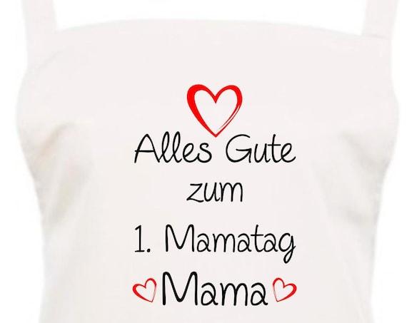 "Chef Baking Apron ""All The Happy 1st Mamatag Mama"" Grilling Grill Apron Apron DIY Garden Latzschürze"